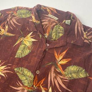 Tommy Bahama XL Silk Red Floral Hawaiian Shirt